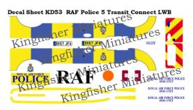 Royal Air Force Police markings Set 5 - Ford Transit Connect LWB
